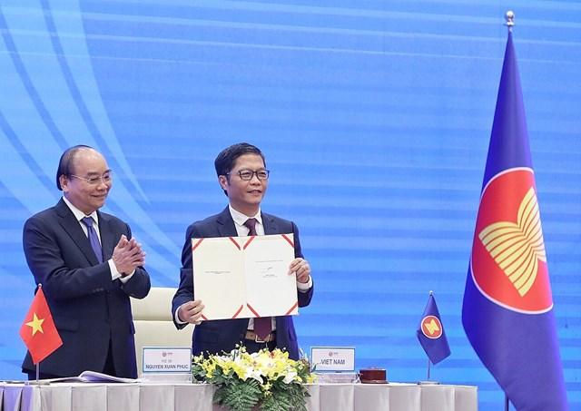 RCEP- Hiệp định thương mại lớn nhất thế giới được ký kết - Ảnh 1.