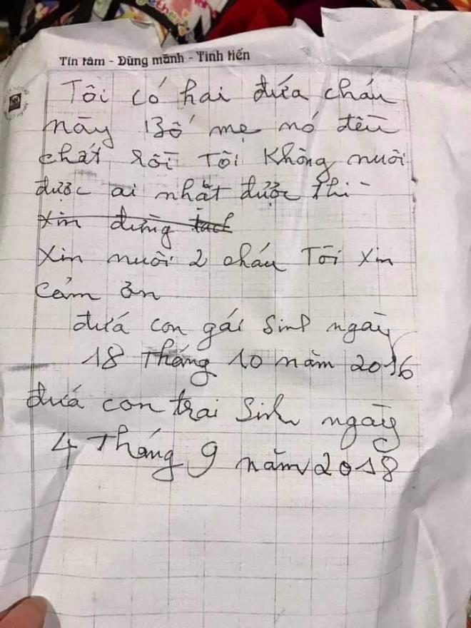 Người phát hiện 2 bé bị bỏ rơi ở Hà Nội kèm lời nhắn bố mẹ đều chết: Tôi sẽ xin nhận nuôi các cháu - Ảnh 3.