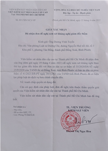 Cần xem xét lại bản án phúc thẩm dân sự của TAND tỉnh Bình Phước - Ảnh 2.
