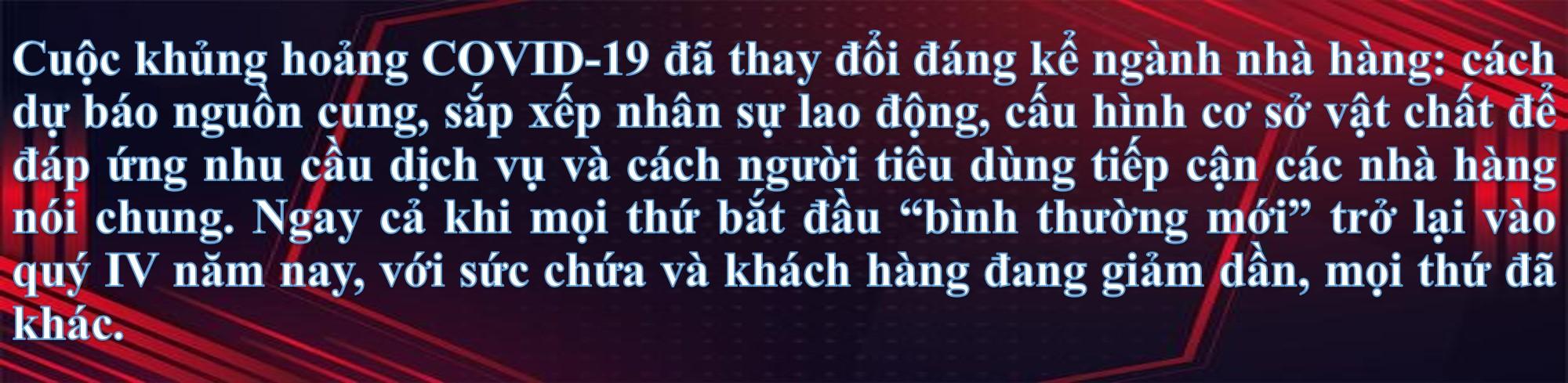 Hướng về tương lai ngành ẩm thực sau làn sóng COVID-19 thứ 4 tại Việt Nam - Ảnh 1.