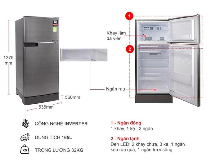 5 mẫu tủ lạnh bình dân giảm giá bạt nóc, rẻ nhất chưa đến 3 triệu đồng - Ảnh 4.