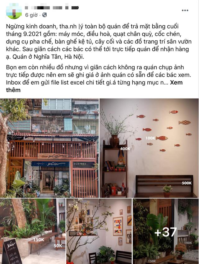 Đóng băng hoạt động gần 2 tháng, hàng loạt quán cà phê Hà Nội rao bán, đại hạ giá 4-5 lần - Ảnh 2.