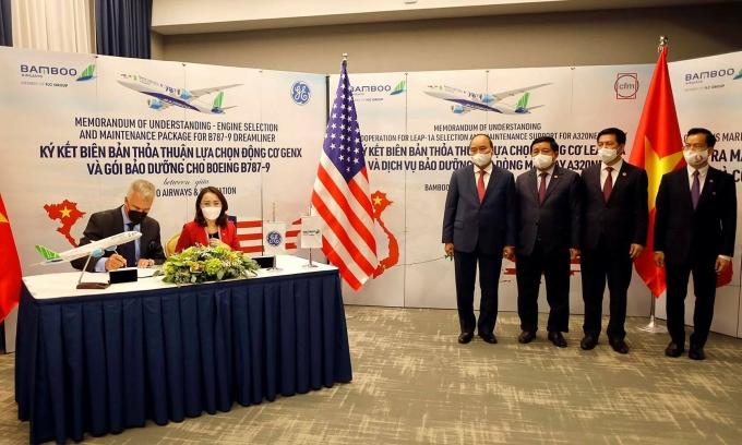 Bamboo Airways ký thỏa thuận 2 tỷ USD tại New York, chính thức công bố đường bay thẳng Việt - Mỹ - Ảnh 1.