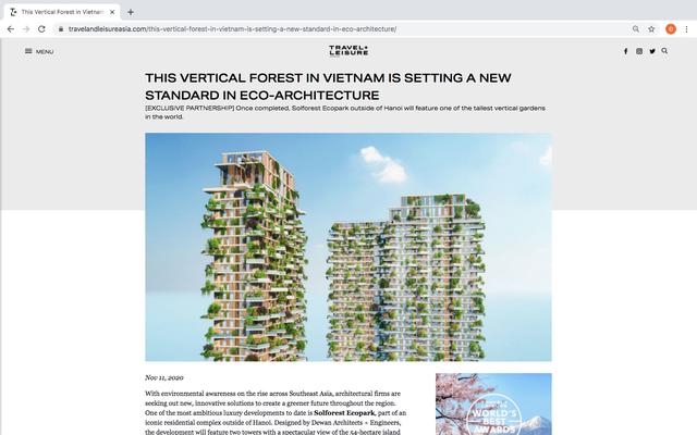 Dự án Sol Forest Ecopark được hàng loạt báo quốc tế xướng tên - Ảnh 3.