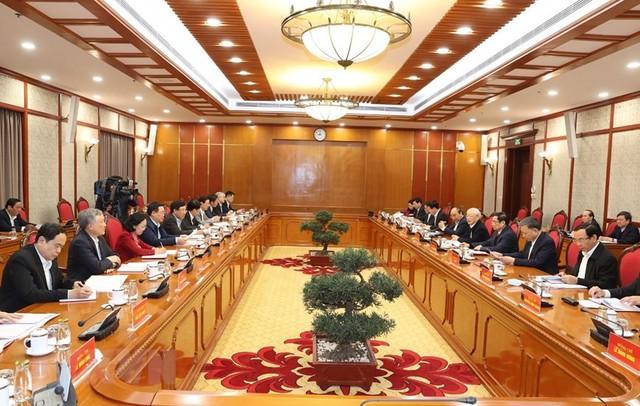 Tổng Bí thư, Chủ tịch nước Nguyễn Phú Trọng chủ trì phiên họp đầu tiên của Bộ Chính trị, Ban Bí thư - Ảnh 2.