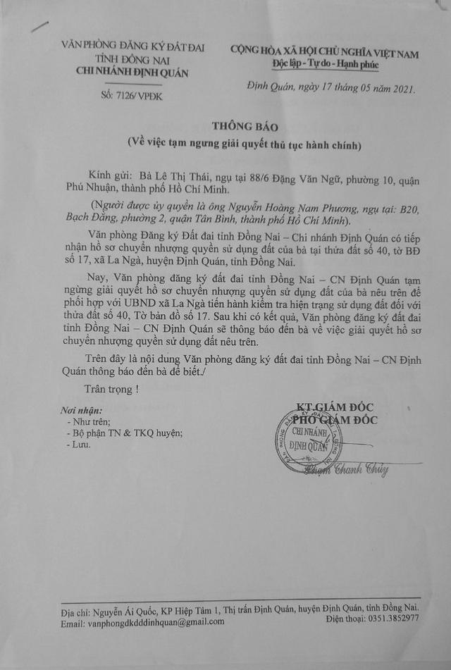 Định Quán (Đồng Nai): Ngăn chặn việc chuyển nhượng quyền sử dụng đất là xâm phạm đến quyền lợi của công dân - Ảnh 2.