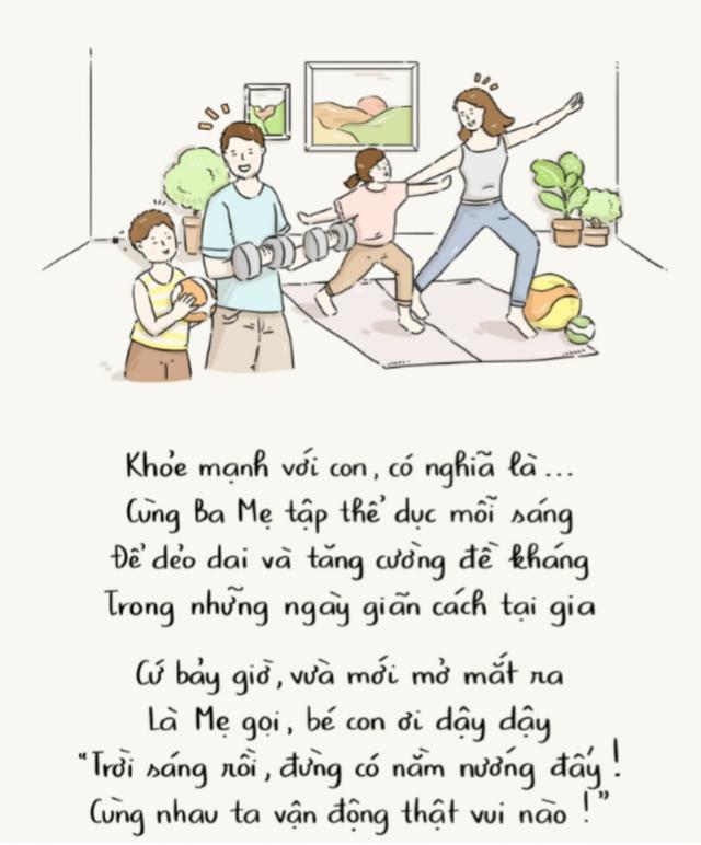 Mong muốn về cuộc sống khoẻ mạnh của trẻ em trong mùa dịch qua góc nhìn hội hoạ - Ảnh 1.