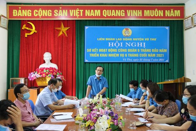 Thái Bình: Liên đoàn Lao động huyện Vũ Thư nhiều hoạt động chăm lo thiết thực tới đoàn viên - Ảnh 1.