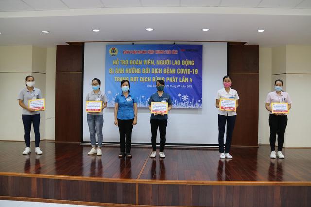 Thái Bình: Công đoàn ngành công thương hỗ trợ đoàn viên bị ảnh hưởng bởi dịch bệnh Covid -19. - Ảnh 1.