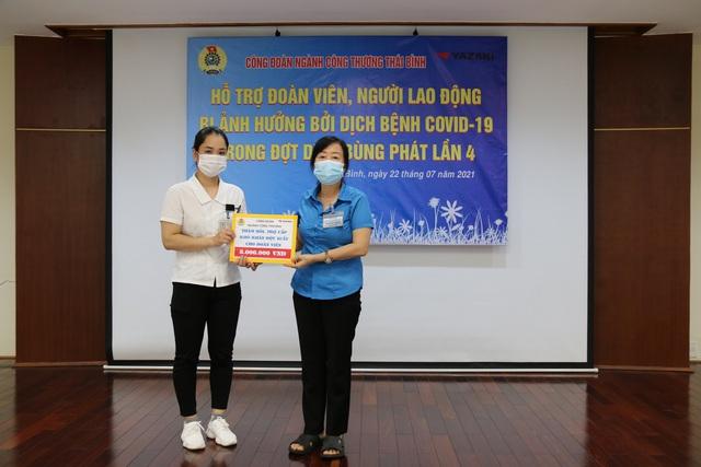 Thái Bình: Công đoàn ngành công thương hỗ trợ đoàn viên bị ảnh hưởng bởi dịch bệnh Covid -19. - Ảnh 2.