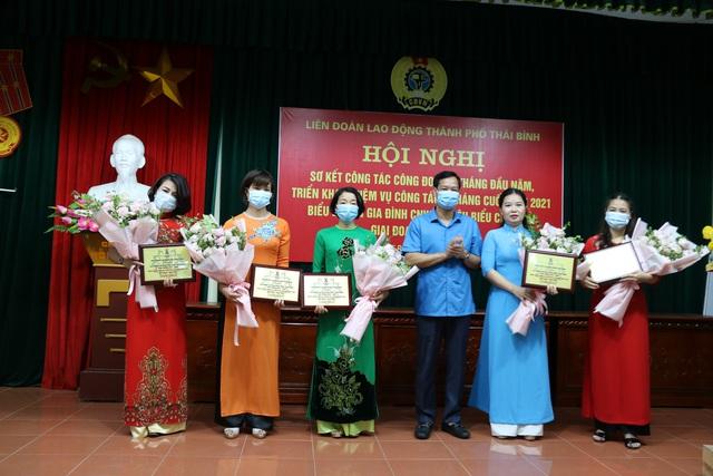 Thái Bình: Liên đoàn Lao động Thành phố sơ kết hoạt động 6 tháng đầu năm - Ảnh 1.