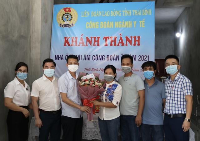 Công đoàn Ngành Y tế tỉnh Thái Bình hỗ trợ đoàn viên xây nhà mái ấm - Ảnh 2.