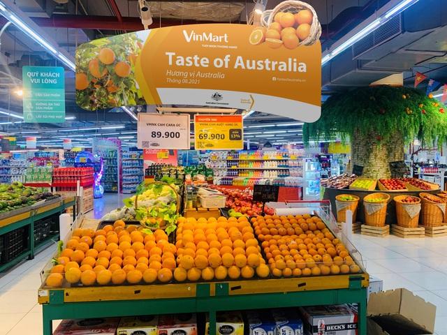 Khu trưng bày các loại trái cây đến từ nước Úc