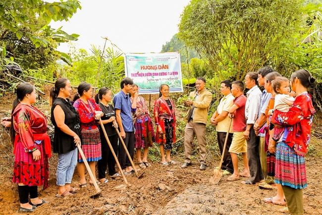 Tập huấn kỹ thuật trồng vườn rau dinh dưỡng giúp hộ gia đình đảm bảo an ninh lương thực.