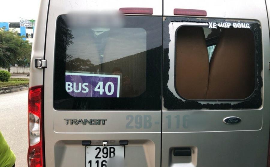 Nhiều ô tô đưa đón học sinh bị người lạ đập vỡ kính, đèn chiếu hậu khi dừng đỗ trong Khu đô thị Trung Văn