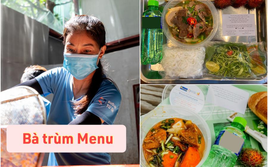 """Căn bếp từ thiện có """"menu xịn xò"""" mùa dịch của bà trùm Hoa hậu: Bún bò, thịt kho ruốc Huế và loạt món ngon ăn là mê!"""