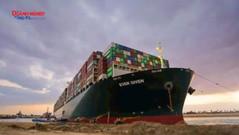 Tàu container Ever Given trên kênh đào Suez được giải cứu thành công