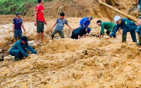 Quảng Nam: Thêm một vụ sạt lở đất vùi lấp 13 người tại Phước Sơn